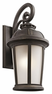Kichler 49414RZ Ralston 25 Inch Tall Traditional Rubbed Bronze Exterior Wall Lamp