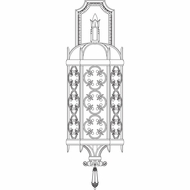 Fine Art Lamps 338281 Costa Del Sol 27 inch outdoor wall sconce in Marbella wrought iron