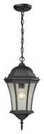 ELK 45053/1 Wellington Park 19 Inch Tall Weathered Charcoal Outdoor Hanging Light