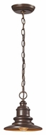 ELK 47011/1 Marina Nautical 9 Inch Tall Outdoor Hanging Light - Hazelnut Bronze