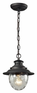 ELK 45041/1 Searsport Weathered Charcoal 10 Inch Tall Outdoor Lighting Pendant