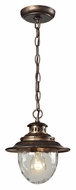 ELK 45031/1 Searsport 10 Inch Tall Regal Bronze Pendant Hanging Light