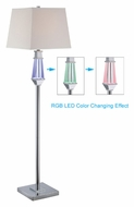 Lite Source LS-81825 Cicely 61 Inch Tall Floor Lamp With Color Changing LEDs