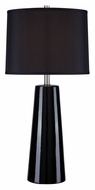 Lite Source LS-22130BLK/BLK Kenneth Contemporary Black Ceramic Lamp - 30 Inches Tall