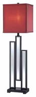 Lite Source LS-22162 Specchio 32 Inch Tall Modern Table Top Lamp - Black