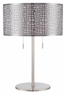 Lite Source LS-22174PS Torre Polished Steel 22 Inch Tall Living Room Table Light