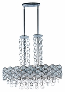 Maxim 23097BCPC Cirque 32 Inch Wide Polished Chrome Modern Island Lighting Fixture