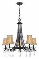 Lite Source C71285 Macy Traditional 5 Lamp Dark Bronze Chandelier Lighting