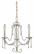 ELK 413-AS Cambridge Antique Silver 3 Candle Mini Chandelier Light Fixture