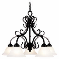 ELK 245-BK Buckingham Traditional Downlight 5 Lamp Hanging Chandelier