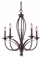 ELK 61032-5 Medford Large Traditional 5 Candle Oiled Bronze Chandelier Light
