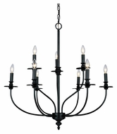 ELK 289-OB Hartford Traditional Large 9 Light Chandelier - 29 Inch Diameter