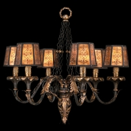 Fine Art 404840 Epicurean Charred Iron Finish 29 Inch Diameter Lighting Chandelier -- 6 Lamps