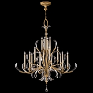 Fine Art 770040 Beveled Arcs Gold 16 Candle Gold Leaf Finish 69 Inch Tall Lighting Chandelier