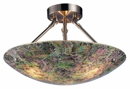 ELK 73022-3 Avalon Semi Flush Mount Crackled Glass Ceiling Light Fixture