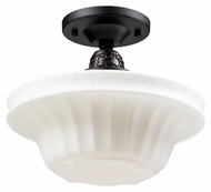 ELK 66221-1 Quinton Parlor Semi Flush Mount 11 Inch Diameter Ceiling Light Fixture