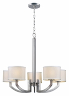 Lite Source LS-19585 Lanette Transitional Style Polished Steel Chandelier Lamp - 5 Lights