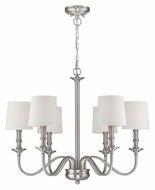 Lite Source LS-19606 Sampson 31 Inch Diameter 6 Lamp Polished Steel Lighting Chandelier