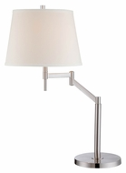 Lite Source LS-22139 Eveleen Swing Arm Polished Steel 26 Inch Tall Transitional Table Light