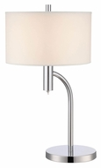 Lite Source LS-22232 Chantay Polished Steel 22 Inch Tall Transitional Table Light
