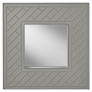 Feiss MR1182HGG Trellis 36 Inch Tall Hi Gloss Grey Square Wall Mirror