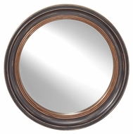 Feiss MR1193DBK 34 Inch Diameter Distressed Black Finish Circular Home Mirror