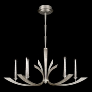 Fine Art 812640 Crescents Silver Oblong 51 Inch Wide Chandelier Light Fixture - 6 Candles