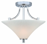 Lite Source LS-5729 Ragnar Transitional Style Chrome 16 Inch Diameter Semi Flush Lighting