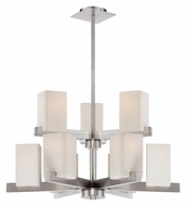 Lite Source LS-19549 Raimondo Polished Steel 2 Tier 32 Inch Diameter Ceiling Chandelier