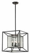 ELK 14122/4 Cubix Contemporary 18 Inch Wide Oiled Bronze Drop Ceiling Lighting - Small