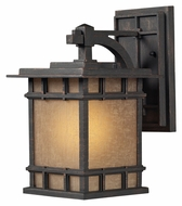 ELK 45010/1 Newlton Weathered Charcoal 12 Inch Tall Outdoor Craftsman Wall Light - Small