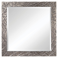 Feiss MR1179QS Xera 42 Inch Tall Square Quick Silver Wall Mounted Mirror