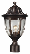 ELK 45005/1 Glendale 17 Inch Tall Regal Bronze Outdoor Post Lamp Lighting - Traditional