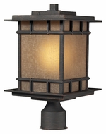 ELK 45014/1 Newlton Weathered Charcoal Craftsman Outdoor Post Lamp