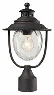 ELK 45042/1 Searsport Weathered Charcoal 15 Inch Tall Lamp Post Light Fixture