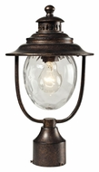 ELK 45032/1 Searsport 15 Inch Tall Traditional Regal Bronze Outdoor Post Lamp