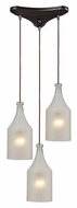 ELK 46005/3 Skylar 3 Lamp Contemporary Oiled Bronze Multi Pendant Light