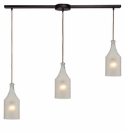 ELK 46005/3L Skylar Oiled Bronze Linear 3 Lamp Multi Pendant Lighting Fixture