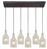 ELK 46005/6rc Skylar 6 Lamp Rectangular Canopy 30 Inch Wide Multi Pendant Light