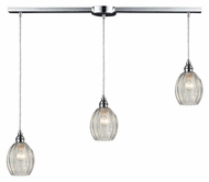ELK 46017/3L Danica 36 Inch Wide Polished Chrome Multi Drop Ceiling Lighting