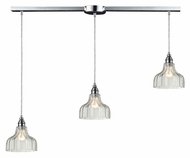 ELK 46018/3L Danica Polished Chrome 36 Inch Wide Multi Pendant Light Fixture