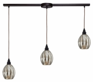 ELK 46007/3L Danica Linear 3 Lamp Oiled Bronze Multi Pendant - 36 Inches Wide