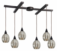 ELK 46007/6 Danica Transitional Oiled Bronze 6 Lamp Multi Pendant Lighting