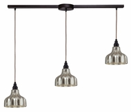 ELK 46008/3L Danica 36 Inch Wide Oiled Bronze Linear Multi Pendant - 3 Lamps