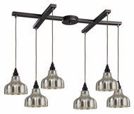 ELK 46008/6 Danica 33 Inch Wide Oiled Bronze Multi Hanging Light - 6 Lamps