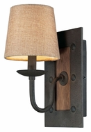 ELK 14130/1 Early American 12 Inch Tall Vintage Rustic Wall Sconce Light