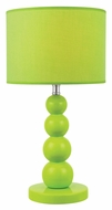 Lite Source LS-22217L/GRN Doniel 18 Inch Tall Light Green Lighting Table Lamp