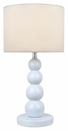 Lite Source LS-22217WHT Doniel Modern 18 Inch Tall White Ceramic Lamp