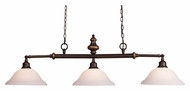 ELK 66175-3 Lurray 3 Lamp Aged Bronze Island Light Fixture - 52 Inches Wide