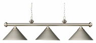 ELK 168-SN Casual Traditions 51 Inches Wide Satin Nickel 3 Lamp Island Lighting